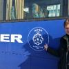 All'Inter Arena, il pullman dell'Inter Baku