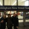 New Street Railway Station, coi tifosi nerazzurri Andrea e Emiliano