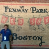 A Boston, a Fenway Park, the home of the Boston Red Sox