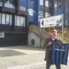 A Brugge, allo stadio Jan Breydel con la maglia nerazzurra del Club Brugge