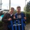 A Brugge, allo stadio Jan Breydel col giovane difensore del Club Brugge Cool Dion