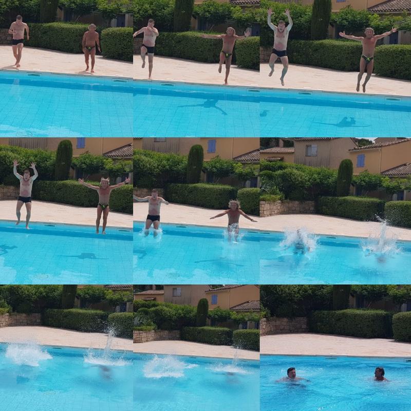 Auribeau sequenza tuffo piscina giugno 2019