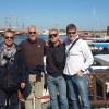 A Girne, sul lungomare con Panagiotis Domoutzoglou, Riccardo Guffanti e l'allenatore Nikos Androdikou