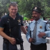 A New Delhi, guardie armate di moschetto davanti al Park Hotel