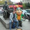 Il Leprechaun, lo gnomo tipico del folklore Eire in Grafton Street