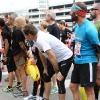 3 aprile. Alla Staffetta Milano Marathon, in attesa del cambio per l'ultima frazione