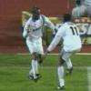 Parkstadion, West e Kanu dopo il gol dell'Inter