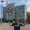 In Plaza de la Revolucion, murales di Fidel