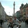 In bici in MariaTheresien Straße