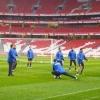 Stadio de la Luz, allenamento Inter