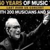La locandina del concerto di Ennio Morricone alla O2