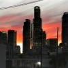 Donwtown al tramonto