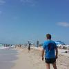 A Miami Beach, running in Ocean Drive