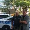 Con l'amico poliziotto Giorgio