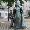 A Nantes, la statua di Anna di Bretagna di fronte al Castello