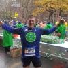 A Brooklyn, punto di ristoro durante la Manhattan, all'arrivo alla New York Marathon 2017