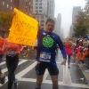 in 1 Ave in Manhattan, durante la New York Marathon 2017
