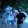 A Dunn's Falls con Lampa Dredd, romano di Jamaica