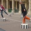 Palais Royal, subbuteo umano con Carlino
