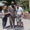 A Rapid City, la statua di John F.Kennedy all'angolo tra Mt.Rushmore Rd. & Main Street