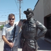 A Rapid City, la statua di Theodore Roosevelt all'angolo tra 9th St. & Main St