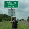A Milano, cartello di benvenuto