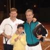 Estadio Borcoño, tennis con Luis e il 'pasapelotas' Cristobal