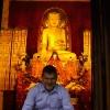 Antica statua di Buddha nel Tempio di Jing'an