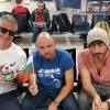 All'alba in aeroporto per il ritorno in Italia