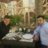 A Tbilisi, al ristorante Georgian House con l'amico Mamuka