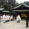 Tempio scintoista Meiji Shingu, monaci