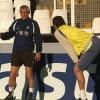 Stadio Mestalla, allenamento Inter