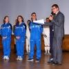 Con gli Olimpionici dell'Esercito Carlotta Ferlito, Elisabetta Preziosa e Flavio Cannone