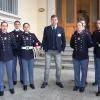Con alcuni Allievi della Scuola Militare Teulié