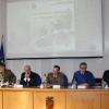Il tavolo dei relatori: da sinistra il Magg.Rossi, il Prefetto Zanzi, il Generale Pennino, il Presidente Provinciale Ginelli e il Direttore di Rete 55 Inzaghi