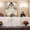Il tavolo dei relatori: da sinistra, il vicedirettore de il Giorno Laura fasano, il Generale Michele Cittadella e l'editore Fiorenza Mursia