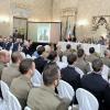 A Milano, un momento della presentazione a Palazzo Cusani
