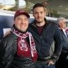 Andy Teruzzi con l'ex maroon Craig Gordon