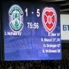 Il punteggio finale fissato sul tabellone di Hampden Park