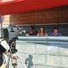 Con Giorgia Colombo e Marco Tajé in postazione allo stadio Mari
