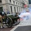 Il colpo di cannone al via delle Staffette