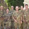 Foto di gruppo degli Ufficiali Riservisti alla Caserma Nacci di Lecce con il Ten.Col.Tolla