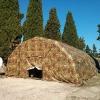 La tenda della White Cell Media alla Caserma Nacci di Lecce