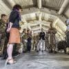 Consueto briefing di inizio giornata alla Caserma Nacci di Lecce