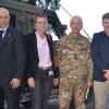 Dopo la conferenza-stampa simulata col Gen.Giorgio Battisti alla Caserma Zappalà di Lecce