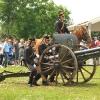 Presa di posizione del pezzo di artiglieria calibro 75/27 da parte del Reggimento Artiglieria a cavallo di Milano