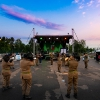 La fanfara Bersaglieri della Brigata Garibaldi di Caserta in concerto