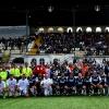 Foto di gruppo tra Nazionale CalcioTv e ProVercelli All Stars