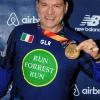 Con la medaglia dopo l'arrivo a Central Park della New York Marathon 2017