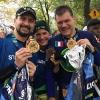 Con Gabriella e Stefano all'arrivo della New York Marathon 2017 a Central Park dopo 42km